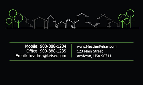 Black Architecture Business Card - Design #1401151