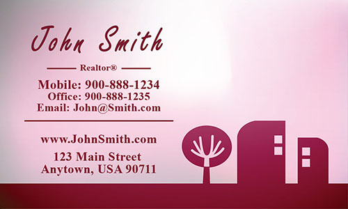 Red Architecture Business Card - Design #1401183