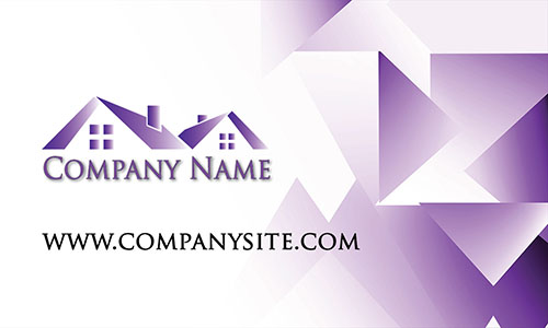Purple Architecture Business Card - Design #1401194