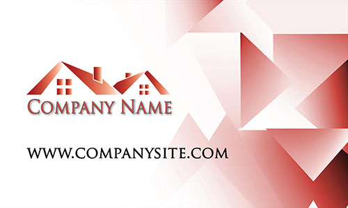 Red Architecture Business Card - Design #1401195