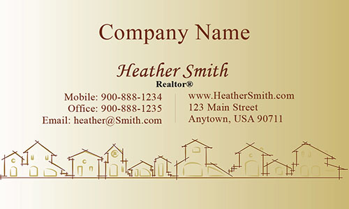 Yellow Architecture Business Card - Design #1401203