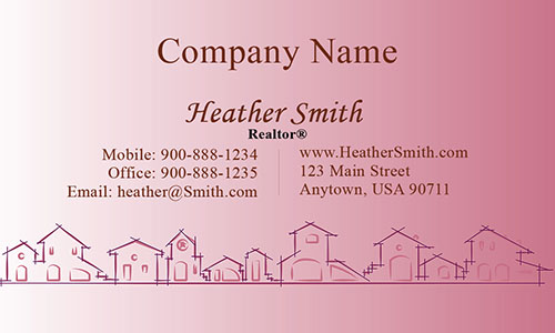 Pink Architecture Business Card - Design #1401204