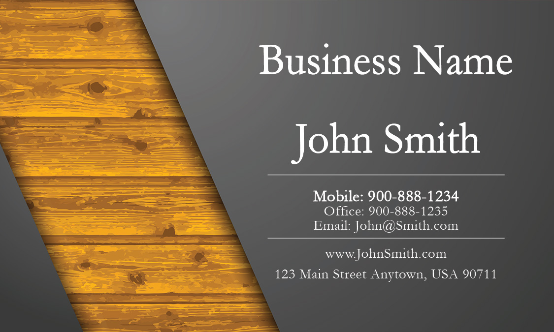 Gray Construction Business Card Design 1501011