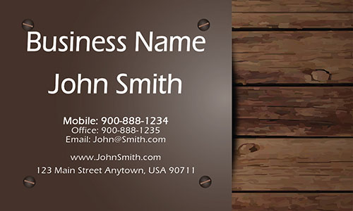 Brown Construction Business Card - Design #1501041