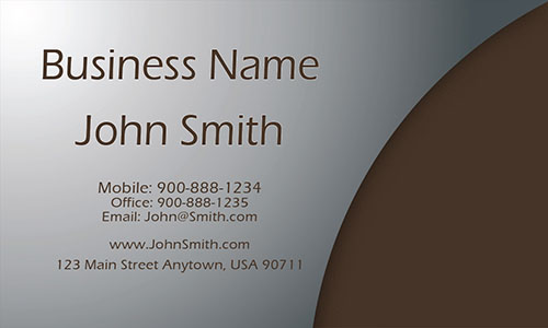 Brown Construction Business Card - Design #1501051