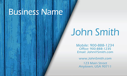 Blue Construction Business Card - Design #1501061