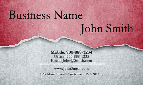 Red Construction Business Card - Design #1501072