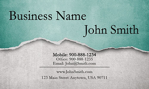 Green Construction Business Card - Design #1501074