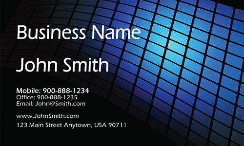 Blue Construction Business Card - Design #1501111