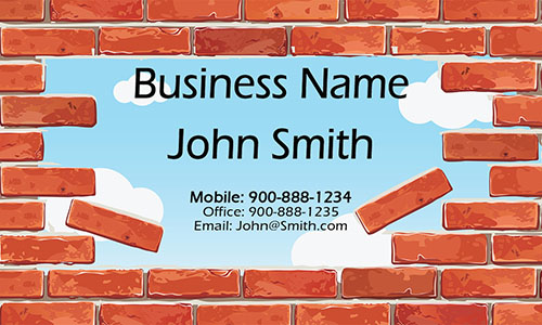 Brown Construction Business Card - Design #1501121