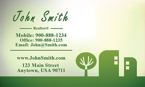 Green Construction Business Card - Design #1501151