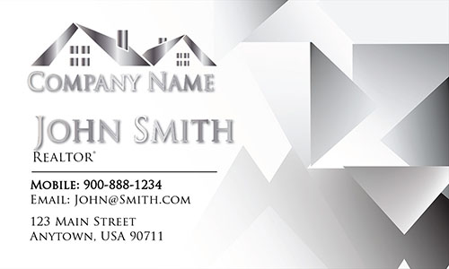 Gray Construction Business Card - Design #1501161