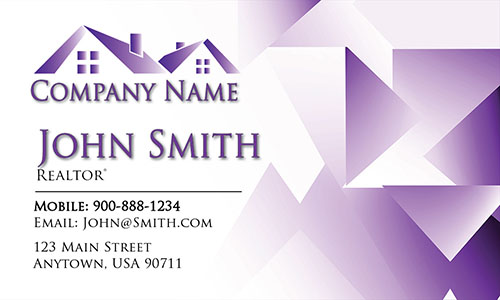 Purple Construction Business Card - Design #1501164