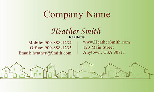 Green Construction Business Card - Design #1501171