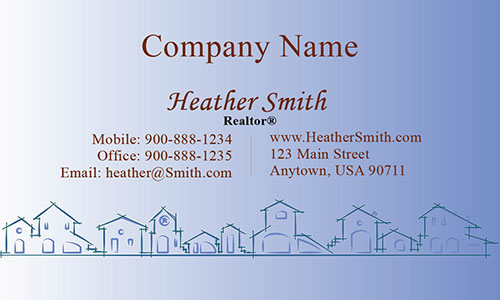 Blue Construction Business Card - Design #1501172