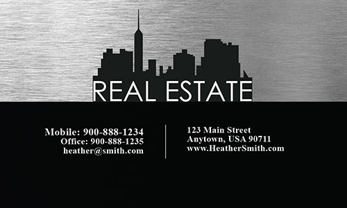 Black Construction Business Card - Design #1501191