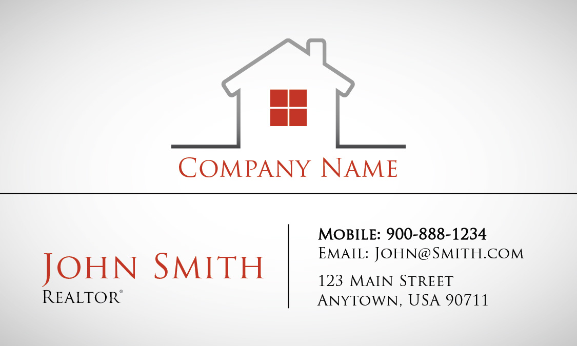 Red Construction Business Card Design 1501201