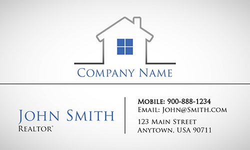 Blue Construction Business Card - Design #1501202