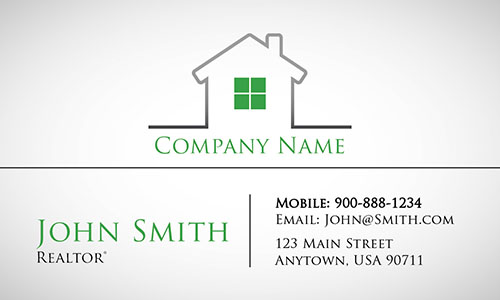 Green Construction Business Card - Design #1501203