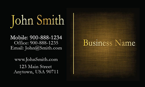 Yellow Consulting Business Card - Design #1601134