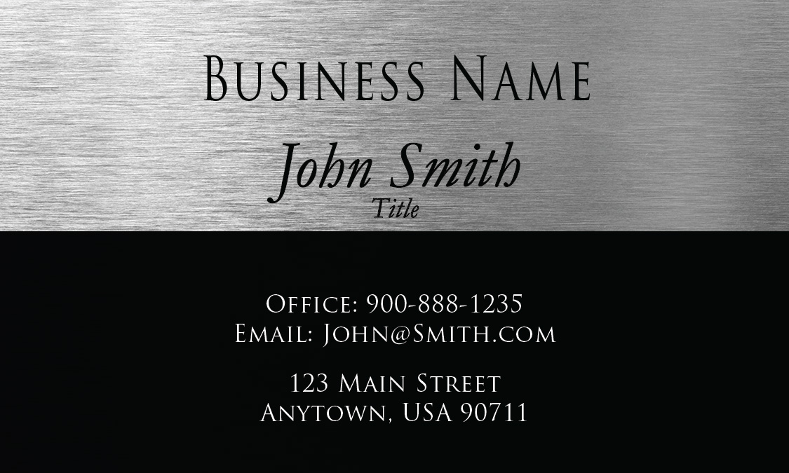 Gray Consulting Business Card Design 1601141
