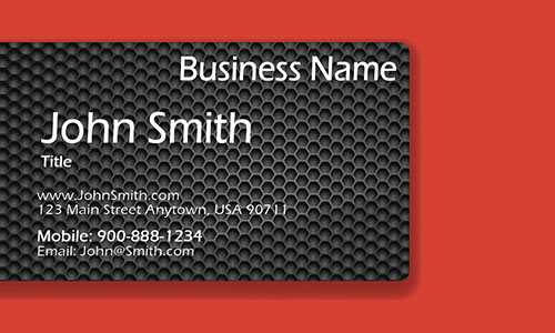 Red Consulting Business Card - Design #1601192