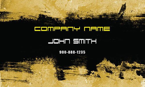 Yellow Painting Business Card - Design #1701091