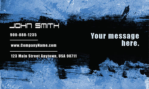 Blue Painting Business Card - Design #1701092