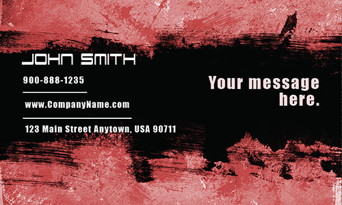 Red Painting Business Card - Design #1701094