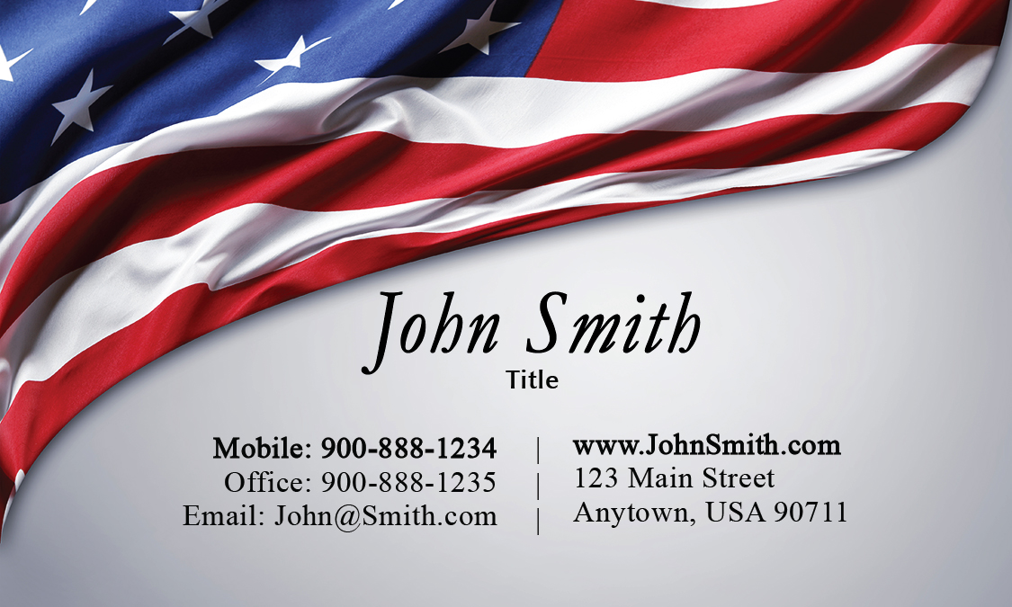 military themed business cards