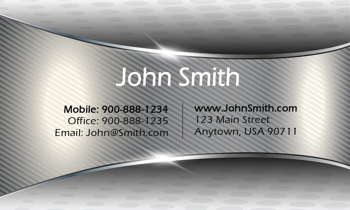 Gray Military Business Card Design