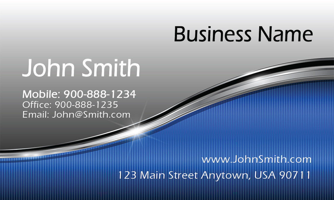 Blue Military Business Card Design