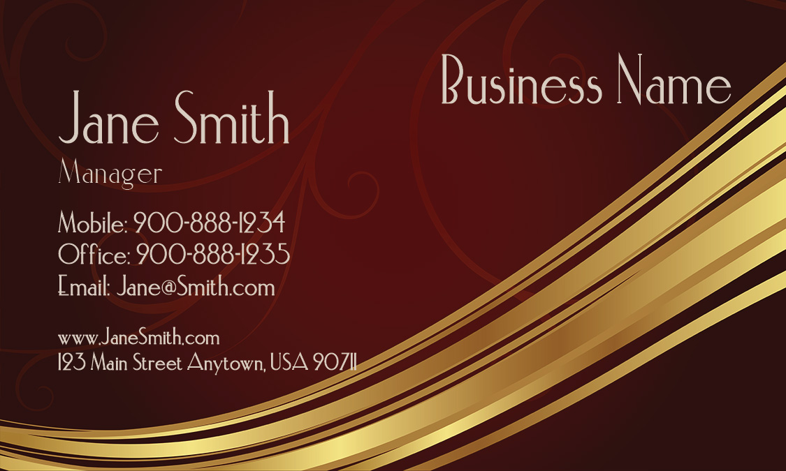 Brown Jewelry Business Card Design 1901081