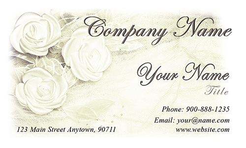 White Jewelry Business Card - Design #1901161