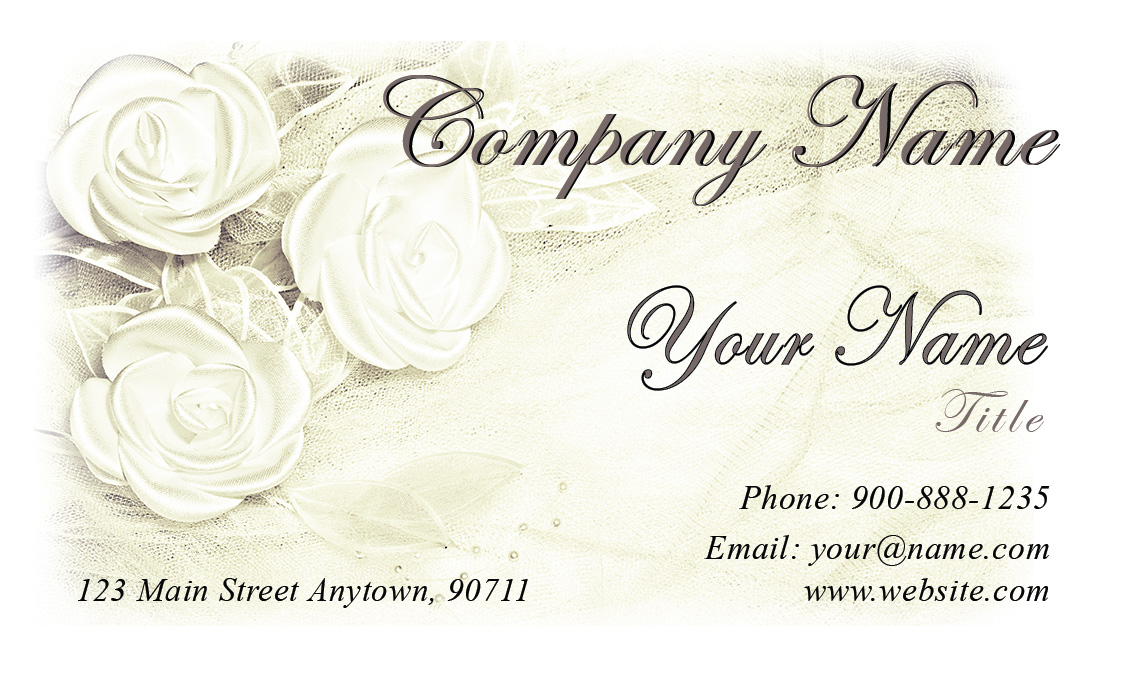 White Jewelry Business Card Design 1901161