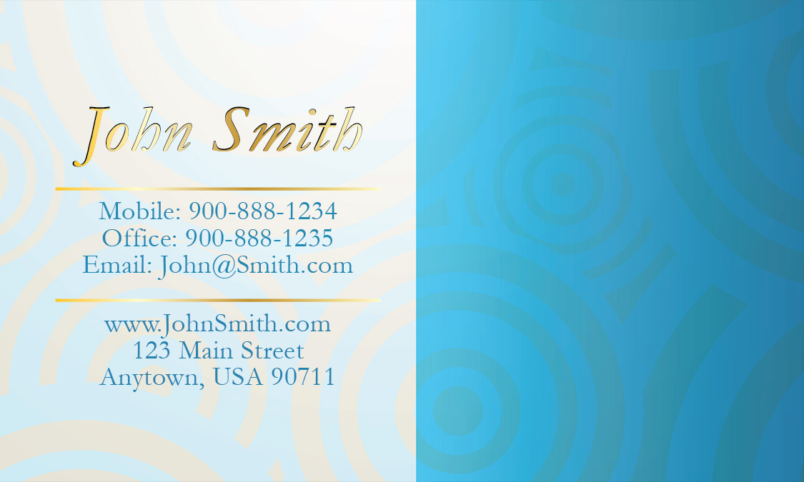 Blue Pearl Financial Business Card - Design #2001041