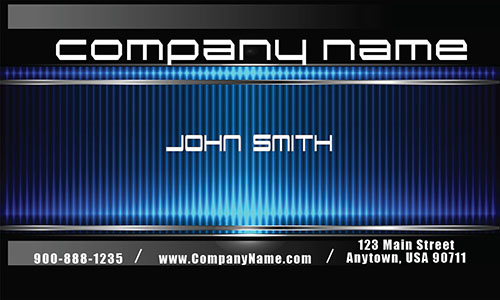 Blue Metallic Consulting Business Card - Design #2001071