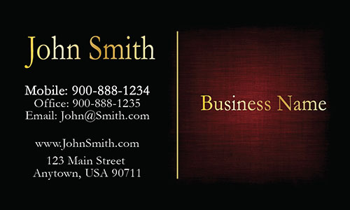Elegant Red Accounting Business Card - Design #2001092