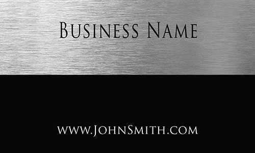 Metallic Look Accounting Business Card - Design #2001101