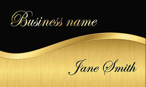Black and Gold Financial Consulting Business Card - Design #2001111