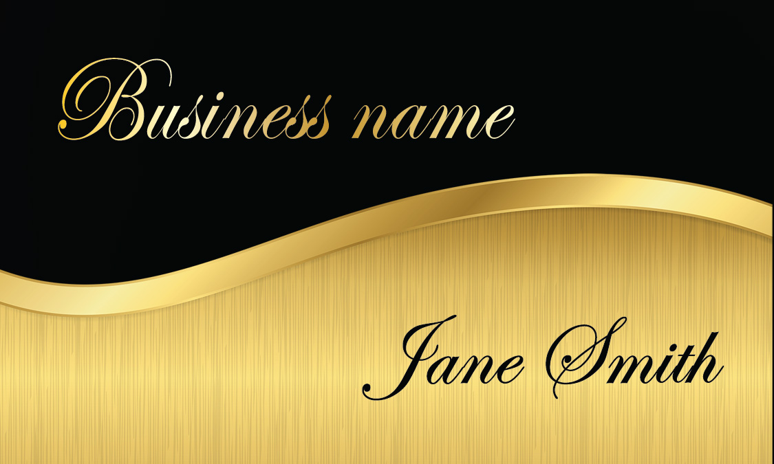 Black And Gold Financial Consulting Business Card Design