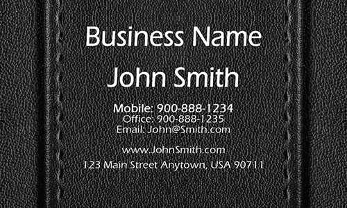 Leather Accounting Consulting Business Card - Design #2001121