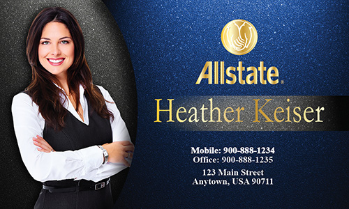 Blue Allstate Business Card - Design #201021