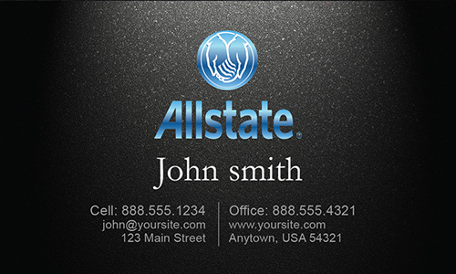 Black Allstate Business Card - Design #201031