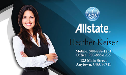 Blue Allstate Business Card - Design #201091