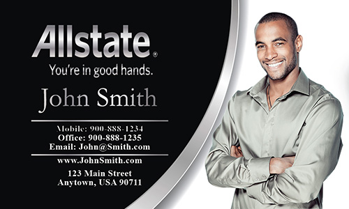 Black Allstate Business Card - Design #201101
