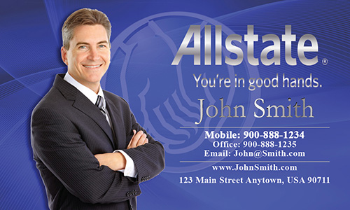 Blue Allstate Business Card - Design #201131