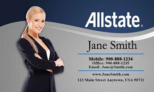 Blue Allstate Business Card - Design #201141