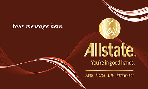 Red Allstate Business Card - Design #201151