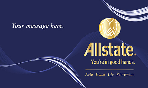 Blue Allstate Business Card - Design #201153